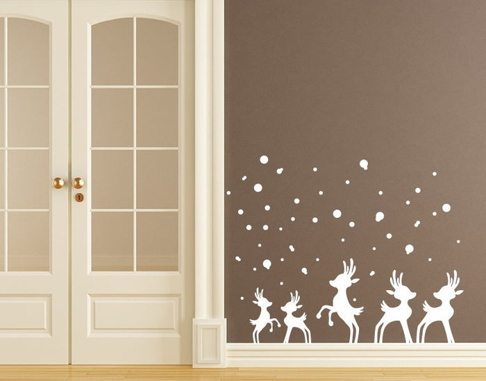 Reindeer in Snow Wall Decal