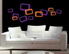Retro Cubes-Wall Decals-Style and Apply