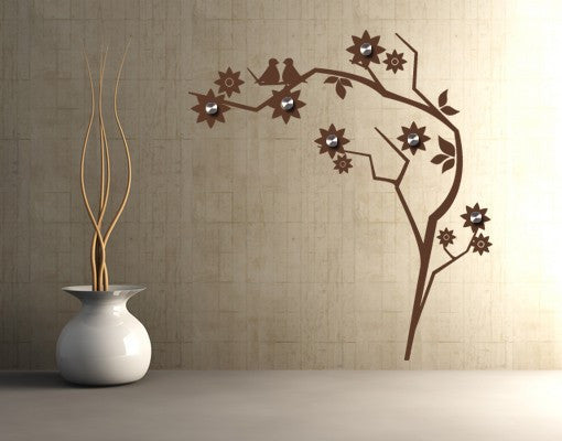 Retro Flower Wall Decal Hanger