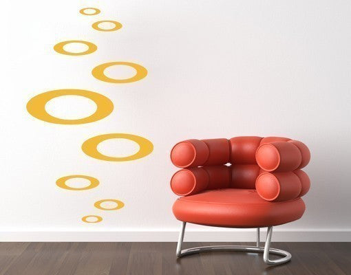 Retro Ovales II Wall Decal-Wall Decals-Style and Apply