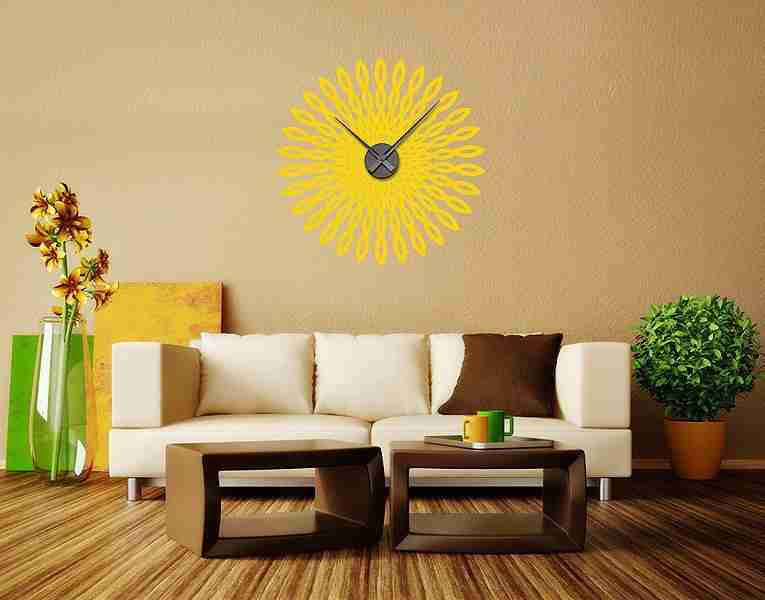 Retro Sun Decal Clock-Wall Decal Clocks-Style and Apply