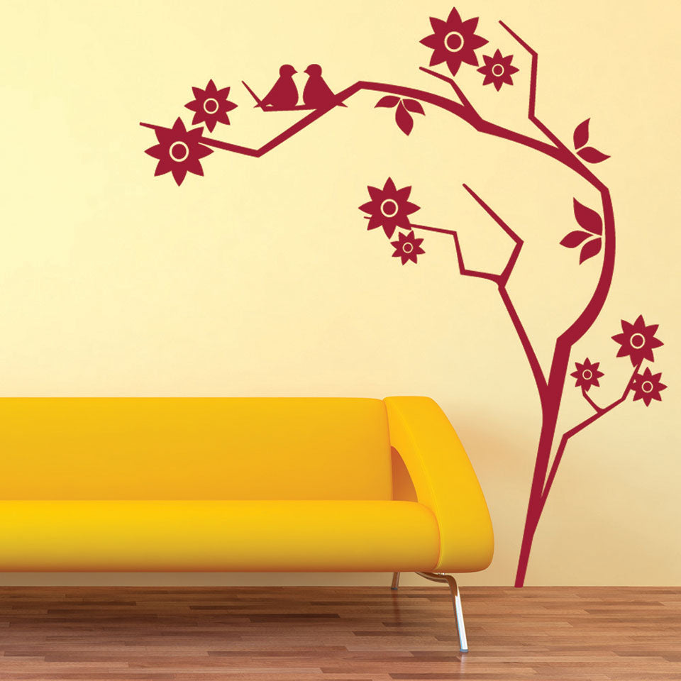 Retro Branch-Wall Decal