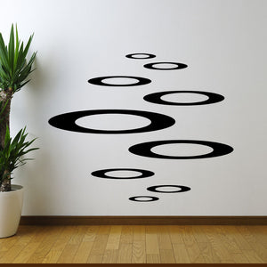 Retro circles Wall Decal