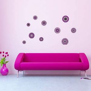 Retro Flowers Wall Decal