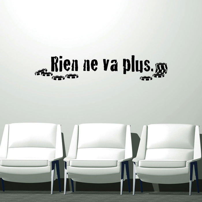 Rien ne va plus Wall Decal