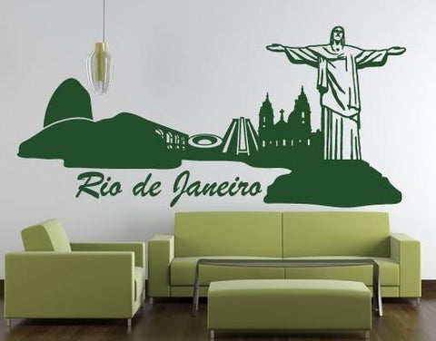Rio de Janeiro Skyline-Wall Decals-Style and Apply