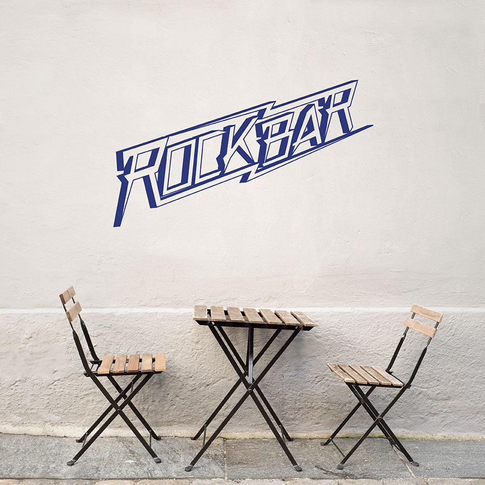 Rock Bar Wall Decal
