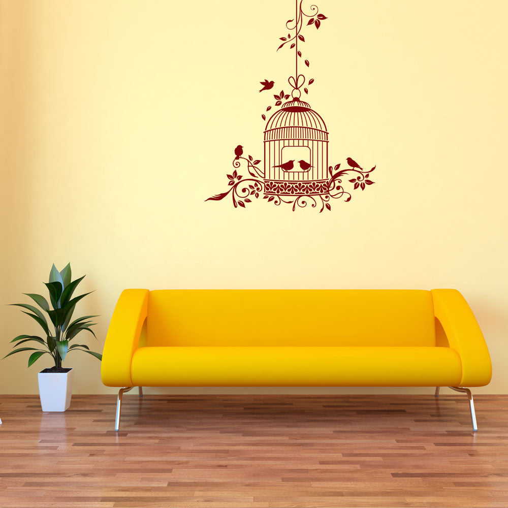 Romantic Bird Cage Wall Decal-Wall Decals-Style and Apply