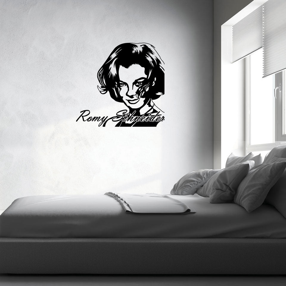 Romy Schneider-Wall Decal