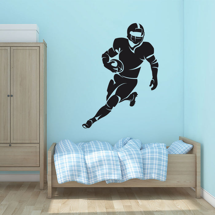 Football Player Wall Decal