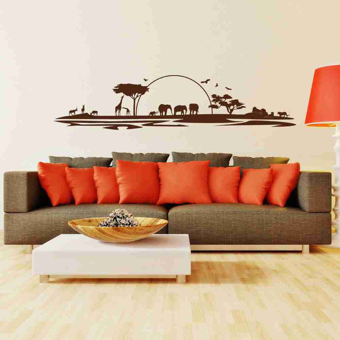 Safari Landscape Wall Decal
