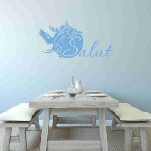 Salut Wall Decal-Wall Decals-Style and Apply