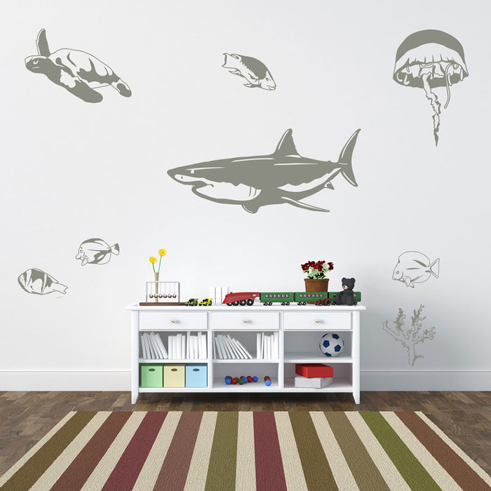 Sea Animal Wall Decal Set