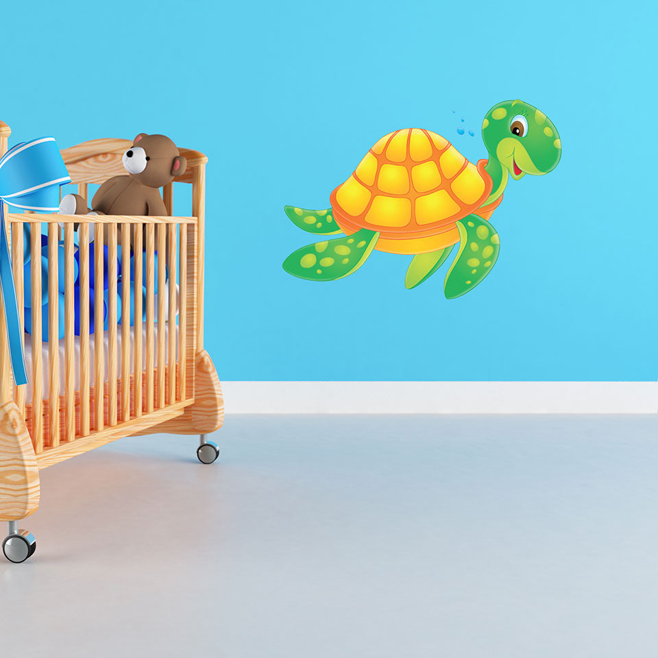 Sea Turtle-Wall Decal Stickers-Style and Apply
