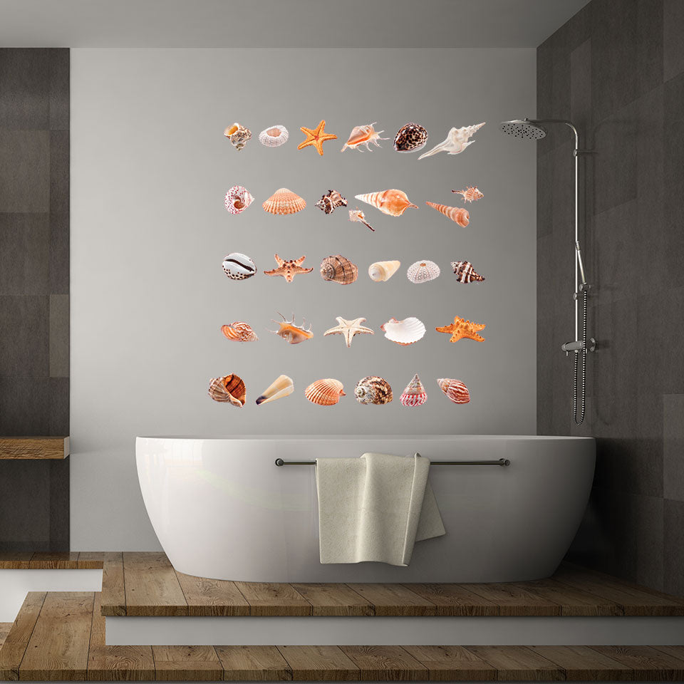 Shell Collection Wall Decal
