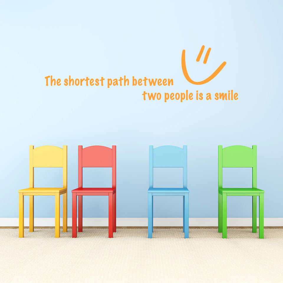 Shortest Path-Wall Decal