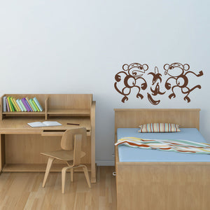Silly Monkeys-Wall Decals-Style and Apply