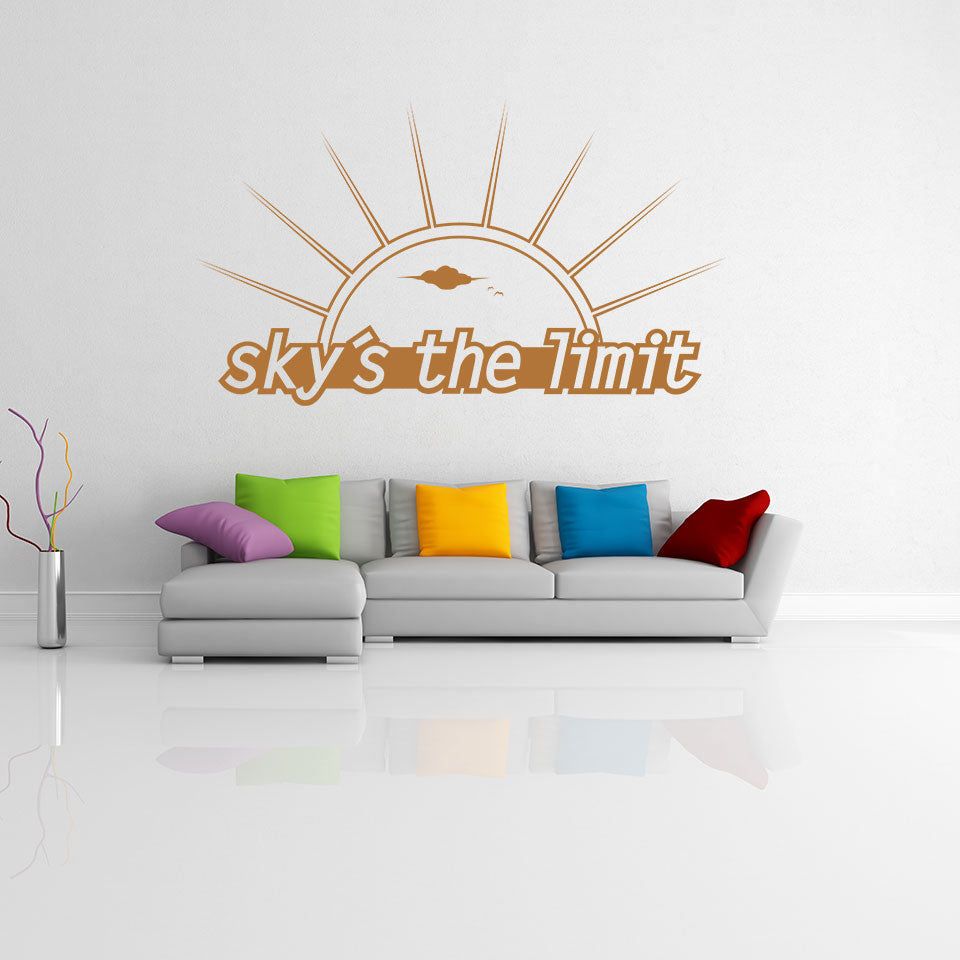 Sky's the Limit-Wall Decal