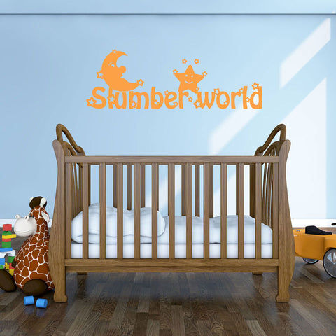 Slumber World Decal-Wall Decals-Style and Apply