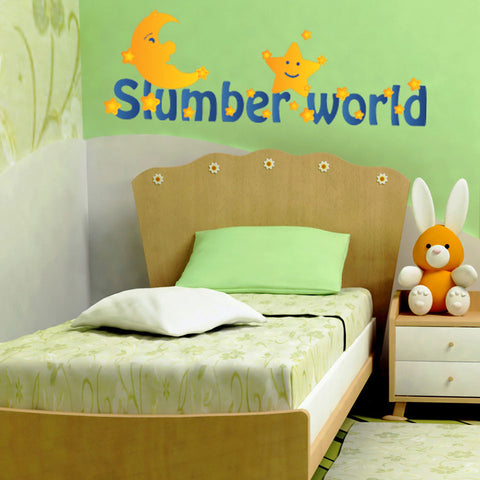 Slumber World-Wall Decal Stickers-Style and Apply