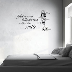 Put on a Smile Quote-Wall Decal