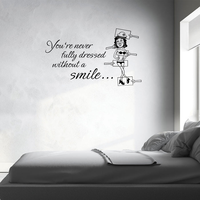Put on a Smile Wall Decal Quote