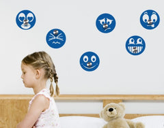 Smilies-Wall Decal Hangers-Style and Apply
