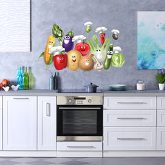 Smiling Vegetables-Wall Decal Sticker