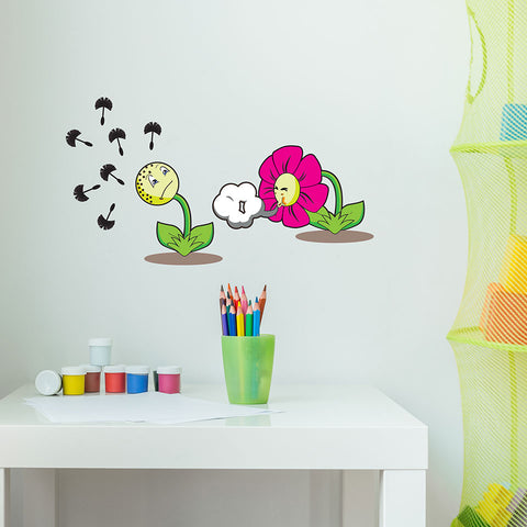 Sneezing Flowers Sticker-Wall Decal Stickers-Style and Apply