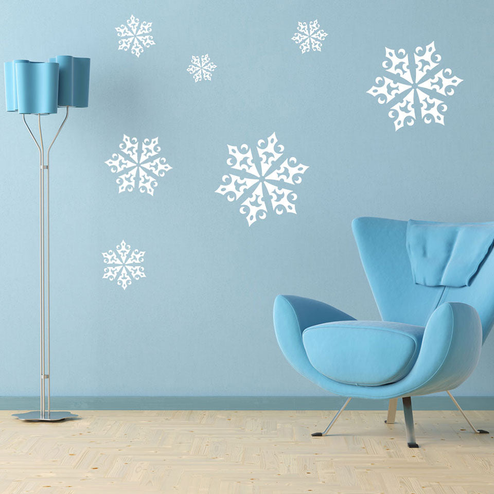 ice crystals wall decal - Christmas Wall Decal