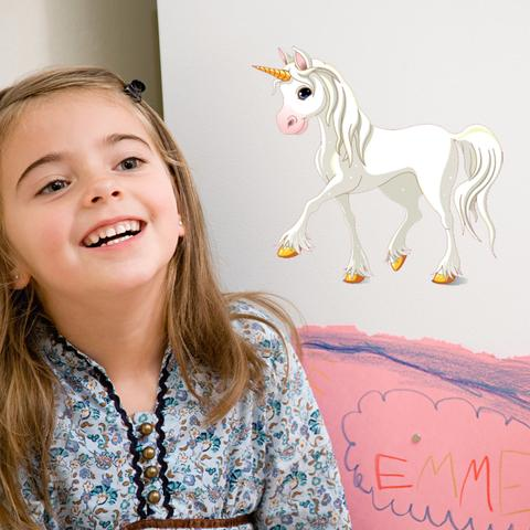 Snowflake Unicorn-Wall Decal Stickers-Style and Apply