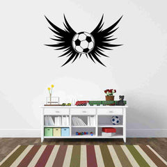 Soccer Wings Wall Decal-Wall Decals-Style and Apply