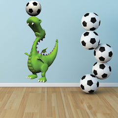 Soccer Dino Sticker-Wall Decal Stickers-Style and Apply