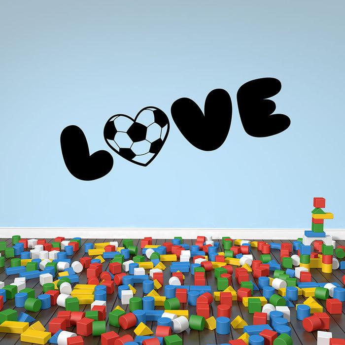 Soccer Love Wall Decal