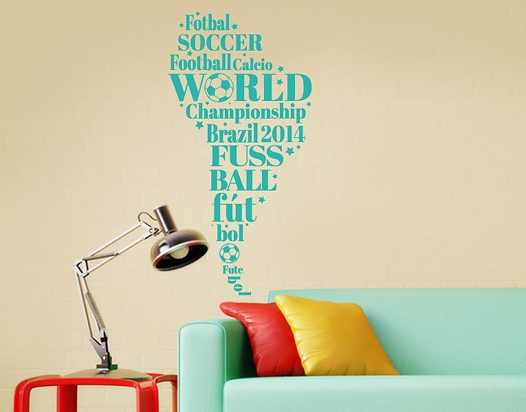 South America Soccer Wall Decal-Wall Decals-Style and Apply