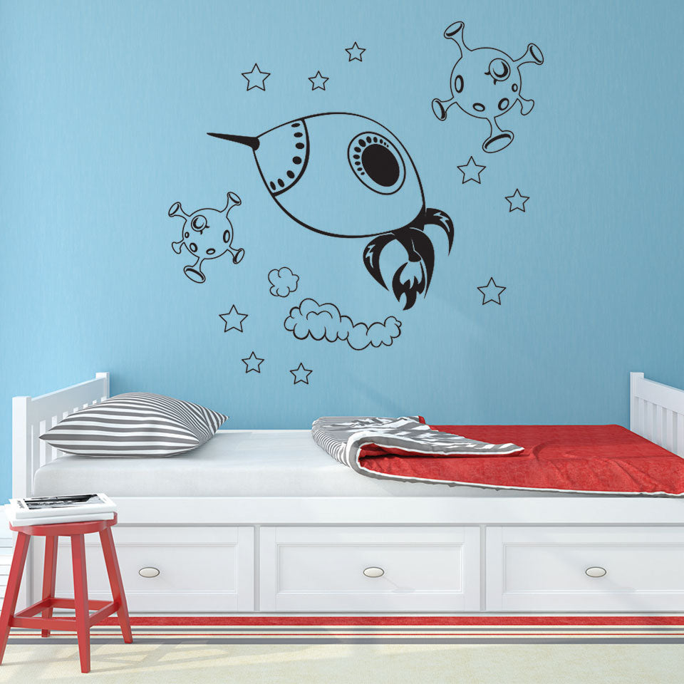 Space Explorer Decal-Wall Decals-Style and Apply
