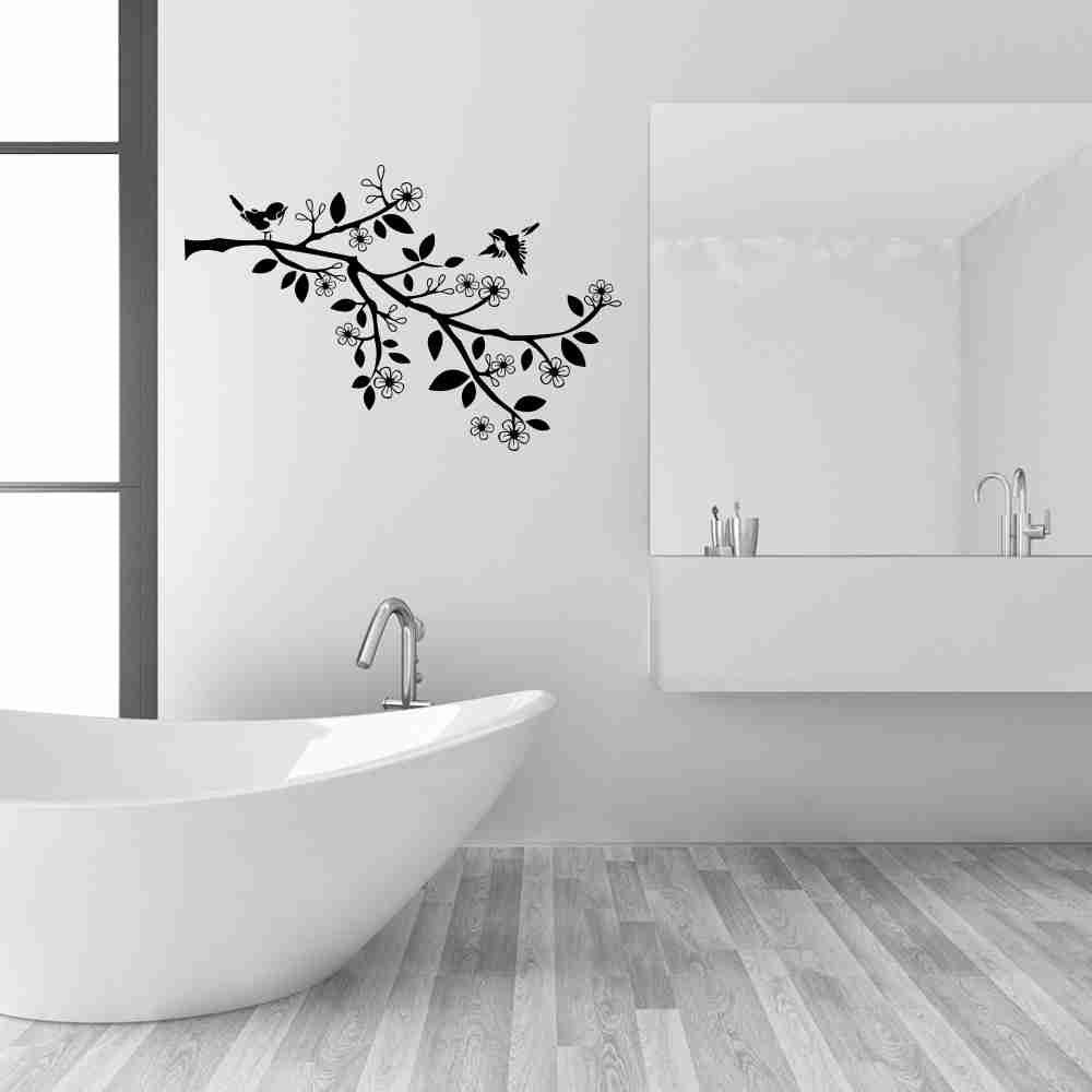 Sparrow Branch Wall Decal-Wall Decals-Style and Apply