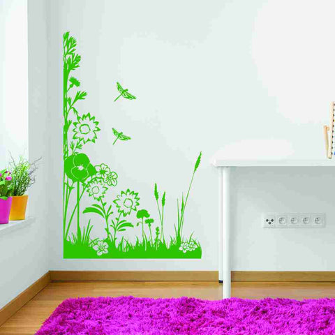 Spring Meadow Corner Wall Decal-Wall Decals-Style and Apply