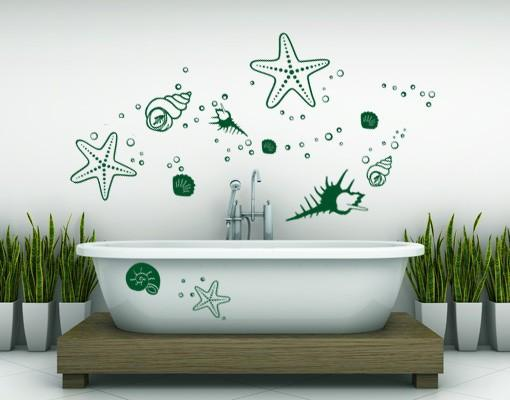 Starfish and Clams-Wall Decals-Style and Apply