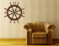 Steering Wheel-Wall Decal Clocks-Style and Apply