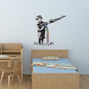 Stencil Munitions Banksy Wall Decal Sticker-Wall Decal Stickers-Style and Apply