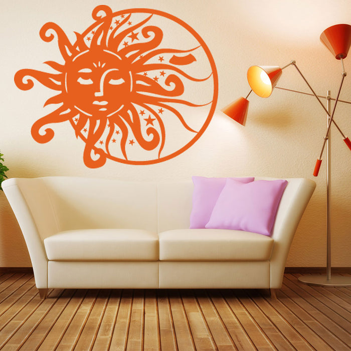 Sun & Moon Wall Decal