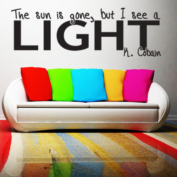 I Can See a Light Wall Decal Quote