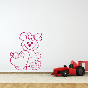Sweetheart Bear Decal-Wall Decals-Style and Apply