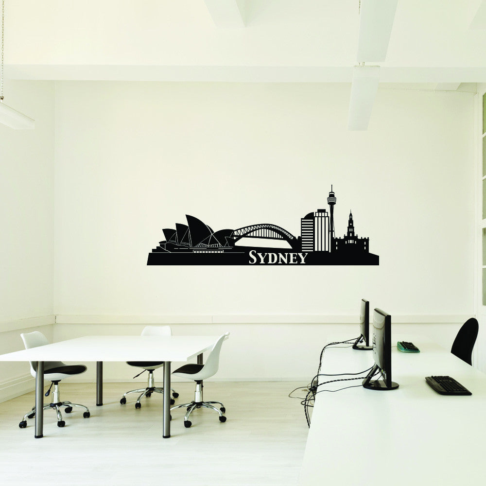 Sydney City Skyline Wall Decal-Wall Decals-Style and Apply