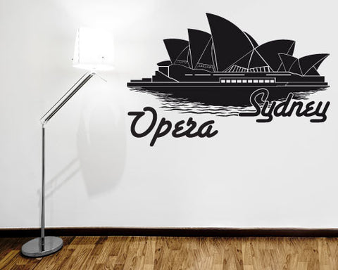 Sydney Opera Wall Decal-Wall Decals-Style and Apply