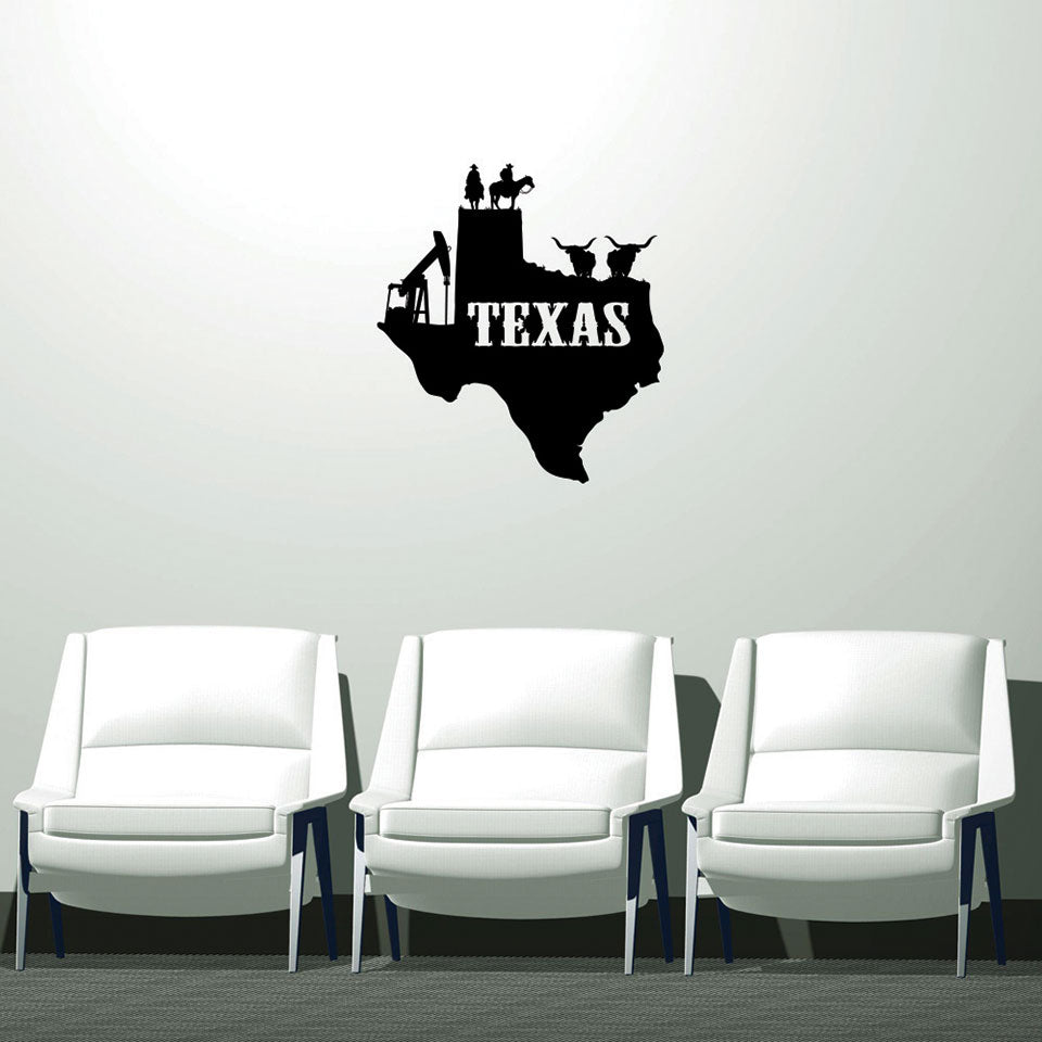 Texas Sticker-Wall Decals-Style and Apply