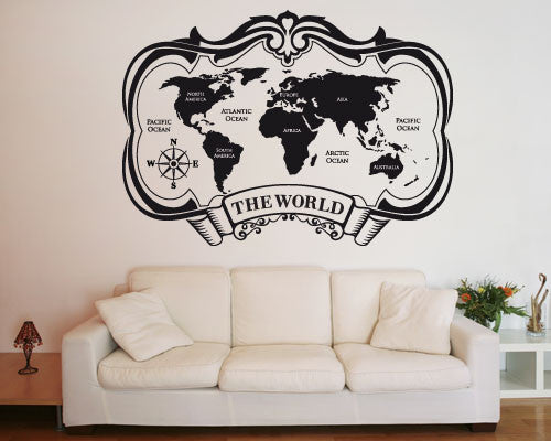 The World Decal-Wall Decals-Style and Apply