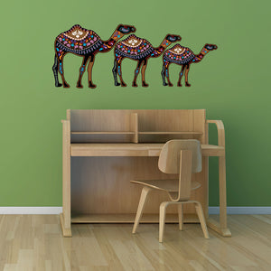 Ethnic Camels-Wall Decal Sticker