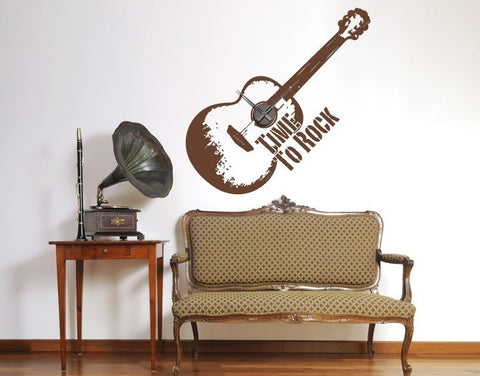 Time to Rock Clock-Wall Decal Clocks-Style and Apply